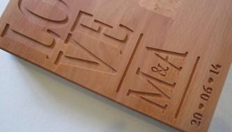 Verbazingwekkend Houten letters en snijplanken - Lief en Leuk ZM-32
